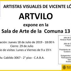 Julio 2019 - Muestra Colectiva en Sala de Arte CGP 13 - CABA