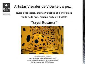 Flyer Charla Castillo-Yayoi Kusama 11-18