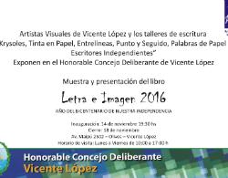 """Invitación a la Muestra y Presentación Libro """"Letra e Imagen 2016"""""""