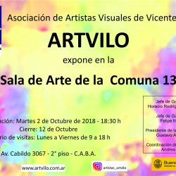 Muestra Colectiva en Sala de Arte CGP 13 - CABA