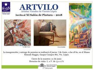 Flyer Inauguración Salón Pintura 2018