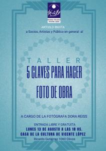 Flyer Taller Foto de Obra-Dora Reiss